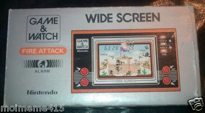 GAME & AND WATCH FIRE ATTACK / WIDE SCREEN / ID 29 / NINTENDO / 1982 / BOXED