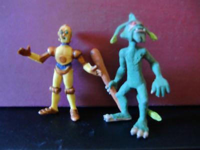 Figuras pvc C3PO y Dulok Star wars Comics Spain Ewoks und droiden