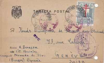 Spanien Campo Miranda Burgos 1943 Deutsche Zensur