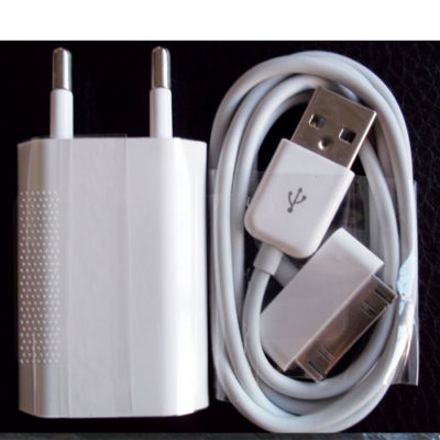 USB AC Power Adapter Wall Charger+Cable For apple iPod Touch iPhone 3G 3GS 4G