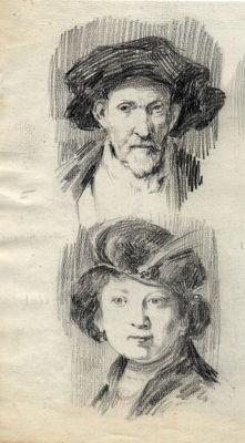 Dibujo a lápiz.Personajes.Posible Joaquín Albareda