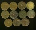 11 monedas II REPUBLICA 50 céntimos 1937  cobre