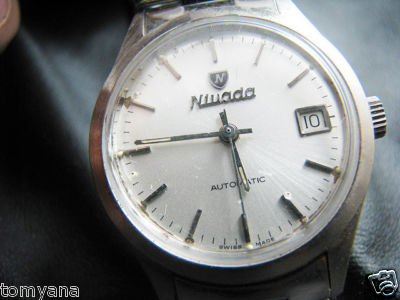 SWISS MADE  VINTAGE NIVADA  AUTOMATIC  MEN WATCH