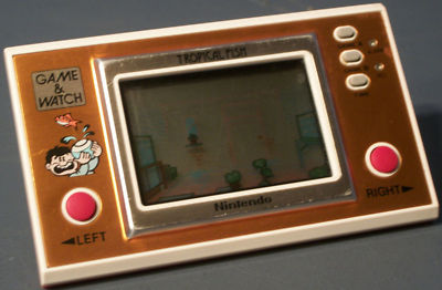 VINTAGE NINTENDO GAME & WATCH - TROPICAL FISH + VHTF + RARE !!!