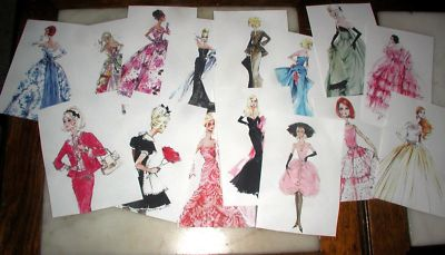 SET OF 15 ROBERT BEST FASHION MODEL COLLECTION BARBIE PRINTS - 4x6