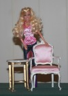 High quality 1:6 scale (Barbie size) chair and table