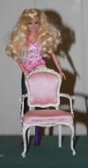 Very high quality 1:6 scale (Barbie size) carved chair