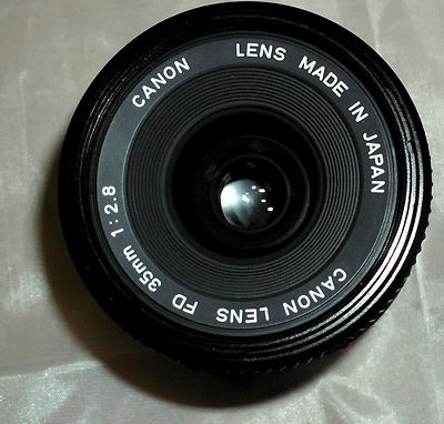 CANON LENS FD 35MM 1:2.8 WITH HOYA 52MM FILTER