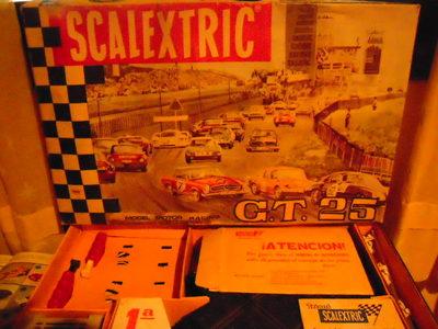 SCALEXTRIC EXIN CIRCUITO COMPLETO GT 25 DE MERCEDES 250 GT C-33 ESTADO MUY BUENO