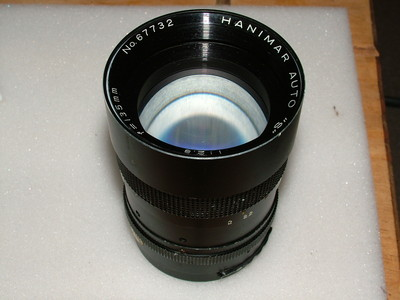 Hanimar Auto S 135mm f2.8 Lens Pentax M42 Screw Fit