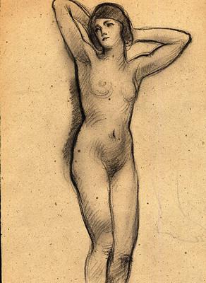 Dibujo Al Carbón Título Desnudo De Mujer Ebay