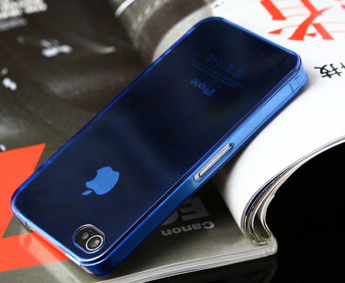 Clear blue 0.5mm Ultra Slim Case Cover For Apple iPhone 4S 4 4G New | eBay</title><meta name=
