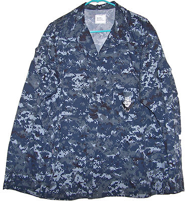 US Navy Working Uniform Coat Men's NWU NEW without Tags LARGE REGULAR ...