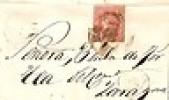 376) SPAIN - ESPANA 1864 COVER LOGRONO to ZARAGOZA