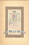 Dibujo Tinta Lápices Título Boceto Blasón Episcopal Autor Albareda Hnos