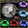 LED Strip 5M 3528 SMD 300LED 12V RGB None Waterproof Fairy Light IR Remote CA