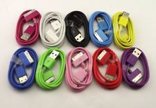 10P Mix Colour USB Data Sync Chargers for iPhone 3 3G 3GS 4 4G 4S iPod Touch 106