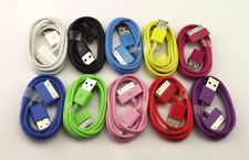 10P Mix Colour USB Data Sync Chargers for iPhone 3 3G 3GS 4 4G 4S iPod Touch 105
