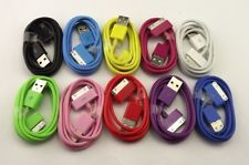 10P Mix Colour USB Data Sync Chargers for iPhone 3 3G 3GS 4 4G 4S iPod Touch 103
