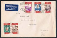 Morocco 1946 Cover Circ Air Mail from Nador to Alicante 5 Stamps RARE