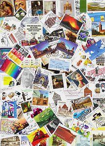 Deutschland 100 Verschiedene Briefmarken 2010 2013 Papierfrei Gestempelt