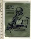 """Spain Hotel """"Goya"""" in Zaragoza – Fine Vintage Label"""