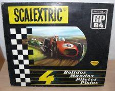 Alfreedom Scalextric Exin Triang Caja Circuito GP 84 Slot Car 4 Bolidos Años 60