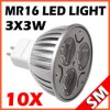 10x MR16 3 3W 9W 100 Epistar LED Light Bulb Lamp Warm Cool White DC 12V Hot New