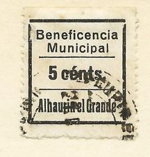 Sellos Locales Beneficencia Municipal Alhaurin El Grande 5 Cts