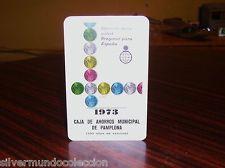 Calendario Heraclio Fournier 1973 Caja de Ahorros Municipal de PAMPLONA