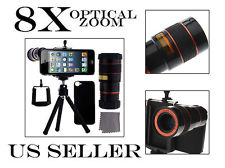 Lens Kit 4 in 1 Set 8 x Zoom Telescope Tripod for iPhone 5