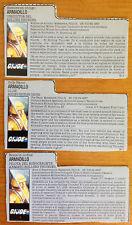 GIJOE Gi Joe Fichas Armadillo V1 Piloto Rolling Thunder File Card 1988