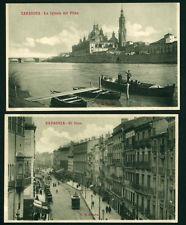 2 Unposted Postcards Zaragoza Spain