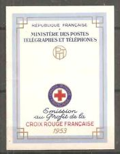 France Red Cross Booklet Better Years 1953 Unfortunat Stamps Sticked