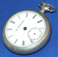 VTG Antique 1888 Elgin National Watch CO 18s Pocketwatch Pocket Watch 11 Jewel