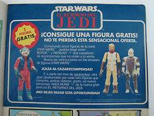 Vintage Star Wars Spain Poch PBP Free Nien Numb Bossk Dengar Advertisement Comic