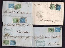 Spanien 4 Belege Aus CA 1876 Zaragoza