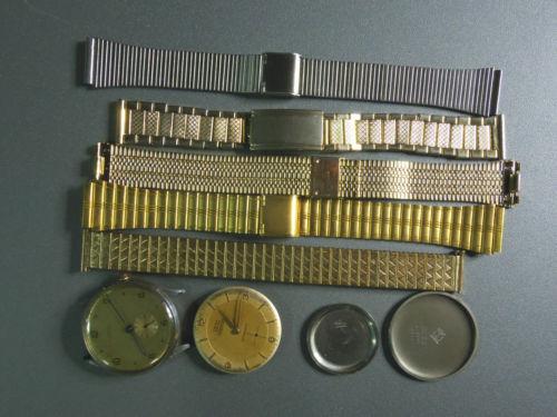 Lote relojes 2 Cadenas 5 Y Tapas No Funcionan Para Recambios Y Reparaciones