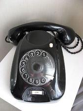 Altes schwarzes Siemens Telefon * 11 M 4 * mit Wählscheibe ca.1960er Jahre